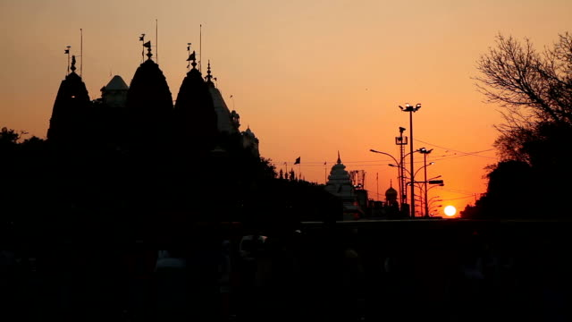 Sunset at Delhi streets