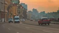 Zonsondergang op de Malecon
