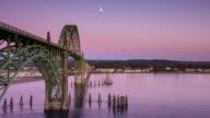 Sunset at Yaquina Bay Bridge - Time Lapse
