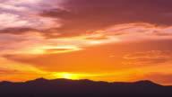 4K : Sunset cloud