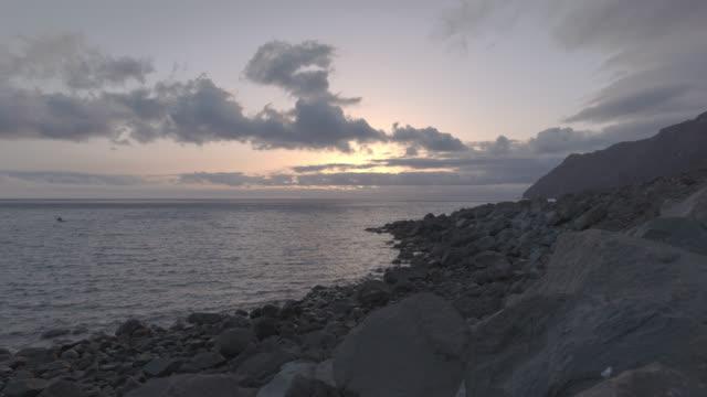 Sunset from a rocky beach