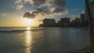Sunset Hyperlapse at Waikiki Beach, Honolulu, Oahu, Hawaii