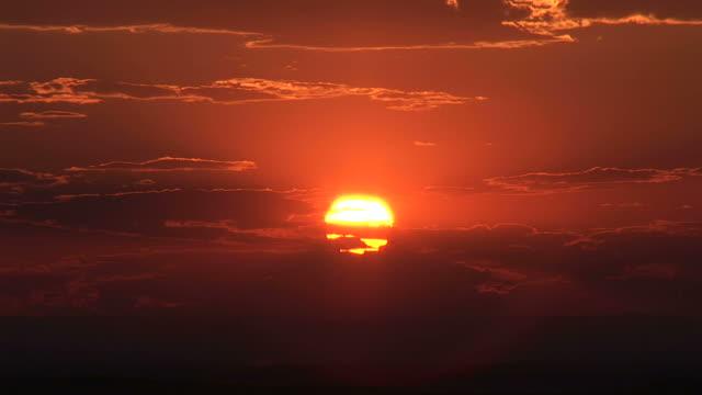 Sunset in Badland National Park South Dakota United States