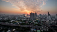 Sunset In Bangkok City : Day To Night Time-Lapse