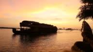 sunset in kerala backwaters