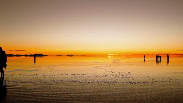 Sunset in Salar de Uyuni, Bolivia - Latin America