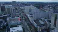 Sunset in the city of New Orleans - Timelapse