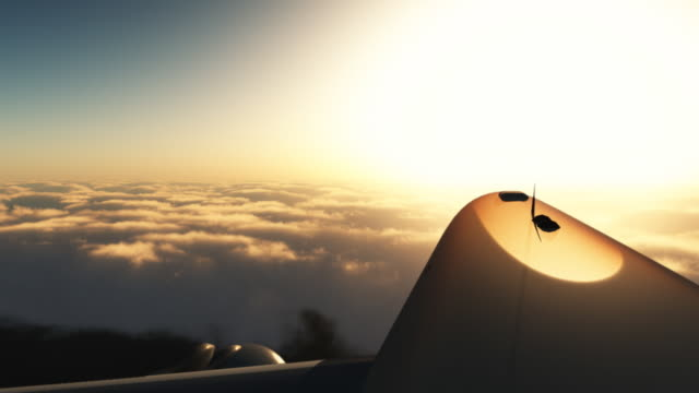 Sunset jet.