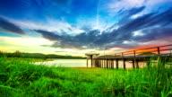 Zonsondergang op Lake