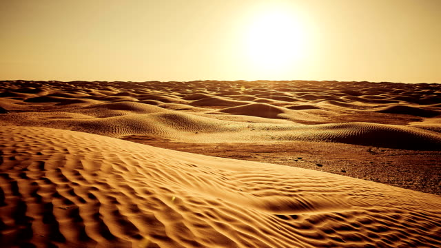 Sunset on Sahara Desert / Grand Erg Oriental / Tunisia