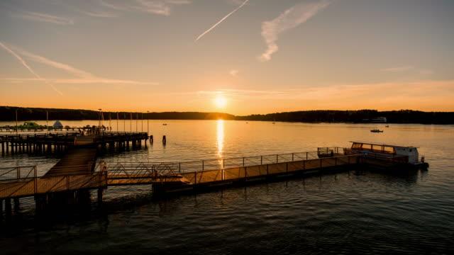Sunset on the lake Timelapse