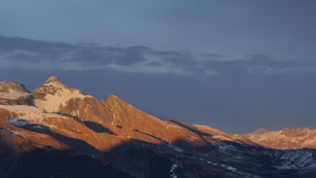 Sunset on the Wetterhorn from Kleine Scheidegg, Jungfrau region, Bernese Oberland, Swiss Alps, Switzerland, Europe