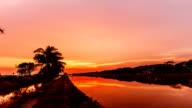 Sonnenuntergang oder Sonnenaufgang