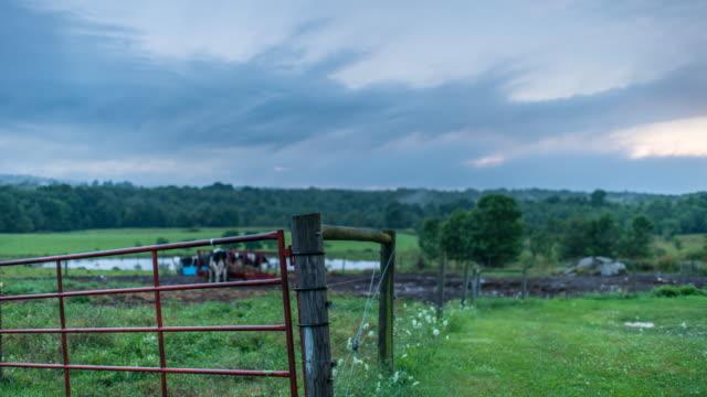 Sunset over farmland
