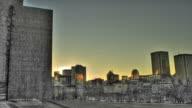 Tramonto su Montreal downtown