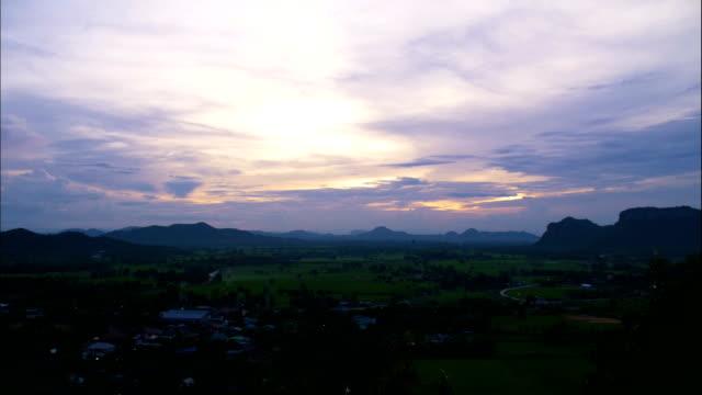 4K Sunset over Mountain, Thailand