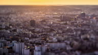 Sunset over Paris, France - Tilt-Shift Timelapse