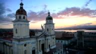 Sunset over Santiago De Cuba
