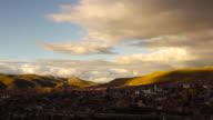 Sunset over the city of Potosi/ Bolivia