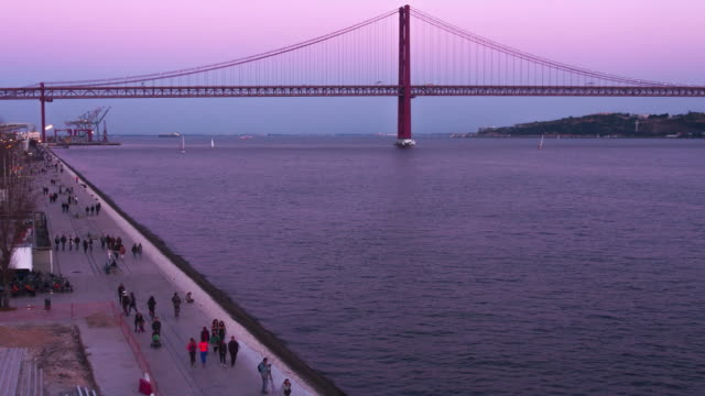 Sunset over the Tagus River
