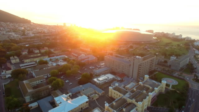 Sunset over the waterfront of Cape Town