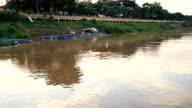Sunset-Fluss