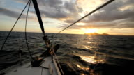 sunset sail into cabo