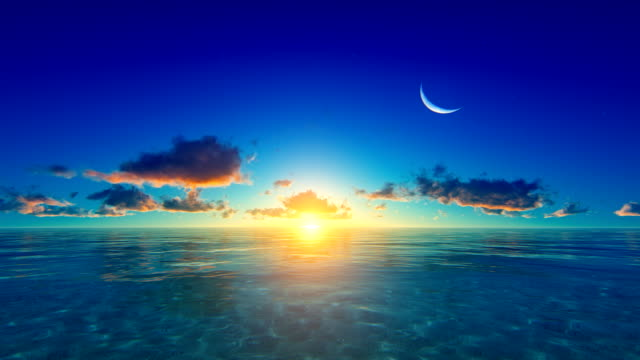 Sunset / sunrise over tropical ocean