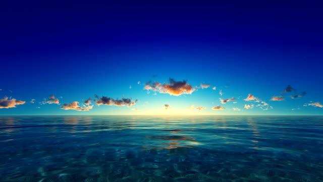 Sunset / sunrise over tropical ocean