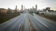 Sunset Time Lapse Verkehr Atlanta