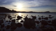 Sunset time lapse in the beach of Denia