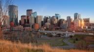 Sunset time lapse of Calgary, Alberta
