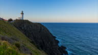 Sunset timelapse at Byron Bay Lighthouse, New South Wales, Australia