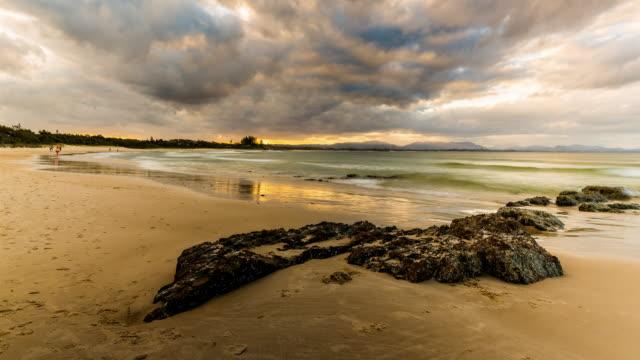 4K Sunset timelapse at Byron Bay Main Beach, New South Wales, Australia