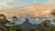 Sunset Timelapse at Glass House Mountains, Australia in 4K