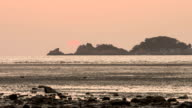 Sunset view of mud flat at Yongyu beach in Yeongjong-do island