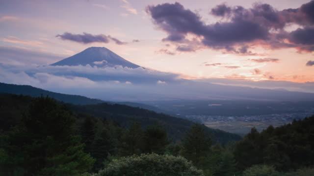 WS T/L Sunsets over Mount Fuji / Shizuoka, Japan