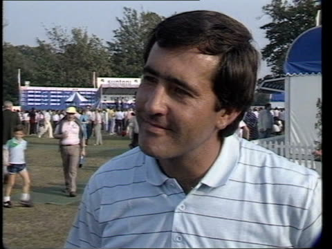 Severiano Ballesteros wins Severiano Ballesteros interview SOT Severiano Ballesteros lifting cup VIDEO ex ENG via L/B TX 29985/930pm Archive Tape Cas...