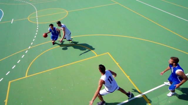 HD: Super slow-motion girato azione di basket
