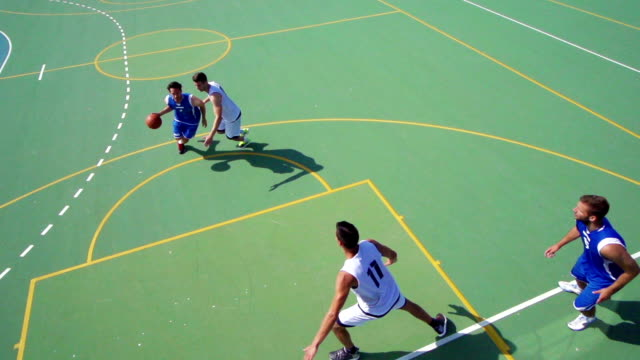 HD: Super Slo-Mo Shot of Basketball Action