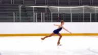 HD: Super Slo-Mo Shot of Young Women Skating