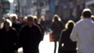 Super Slow Motion, Blurred people walking on City high street