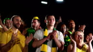 Super Slow Motion HD - Brazilian fans applauding