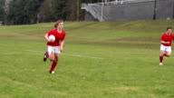 Super Slow Motion HD - Rugby Match, Players Scoring try