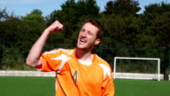 Super Slow Motion HD - Soccer Player celebrate scoring goal