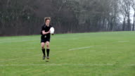 Super Slow Motion, Rugby match, running with the ball