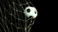Super Slow Motion, Soccer ball scoring goal (Football net)