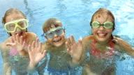 HD Super Slow-Mo: Adorable Children Waving At Camera