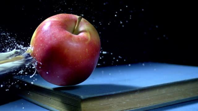 HD Super Slow-Mo: Arrow Hitting An Apple