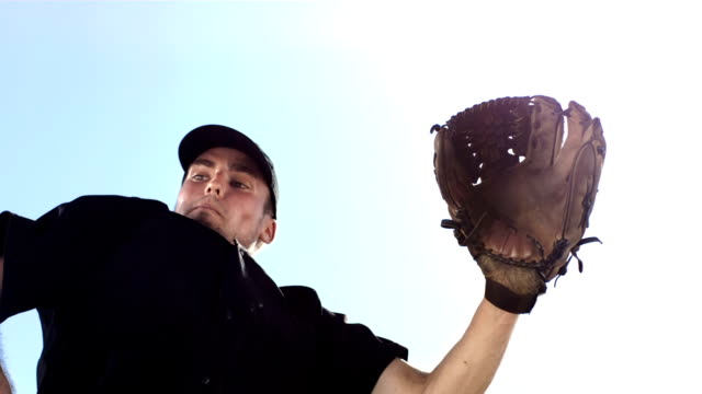 HD Super Slow-Mo: Baseball Catcher In Action